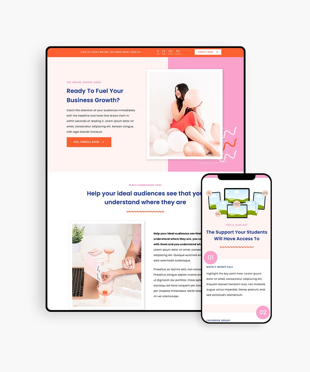 ChicBloom Sales Funnel Templates Kit for Elementor